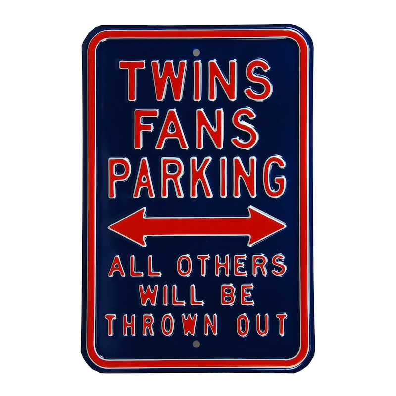 "Minnesota Twins 12"" x 18"" Steel Parking Sign"