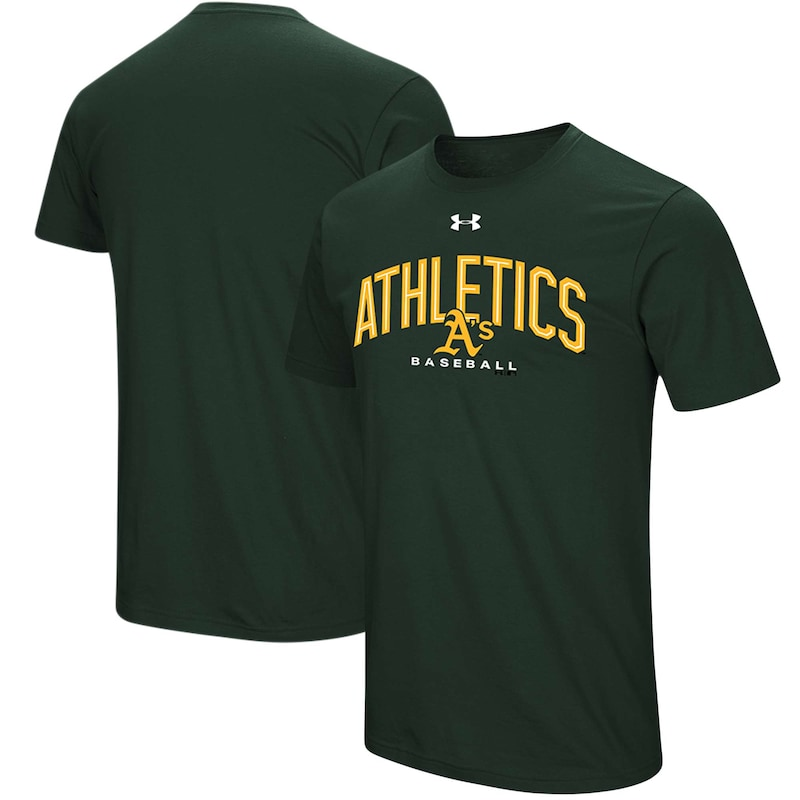 Oakland Athletics Under Armour Performance Arch T-Shirt - Green