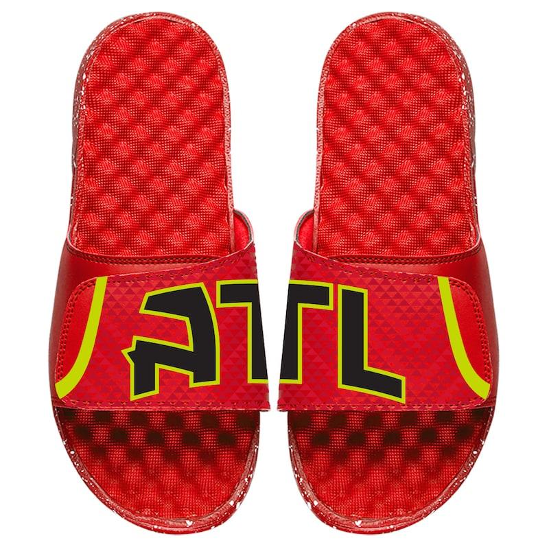 Atlanta Hawks ISlide Youth Statement Jersey Split Slide Sandals - Red