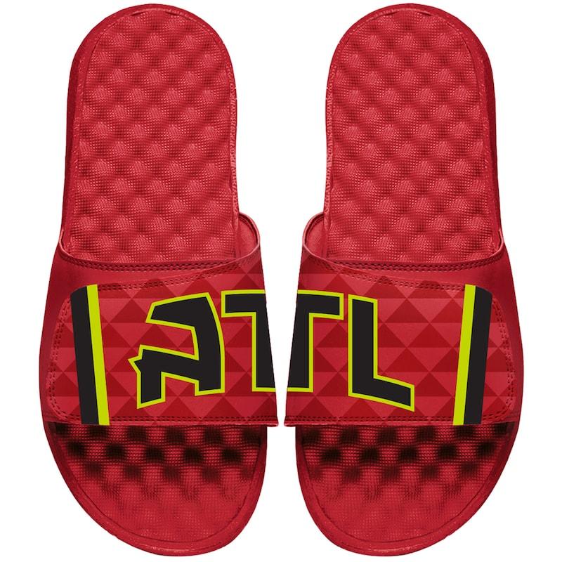Atlanta Hawks ISlide Youth Statement Jersey Slide Sandals - Red