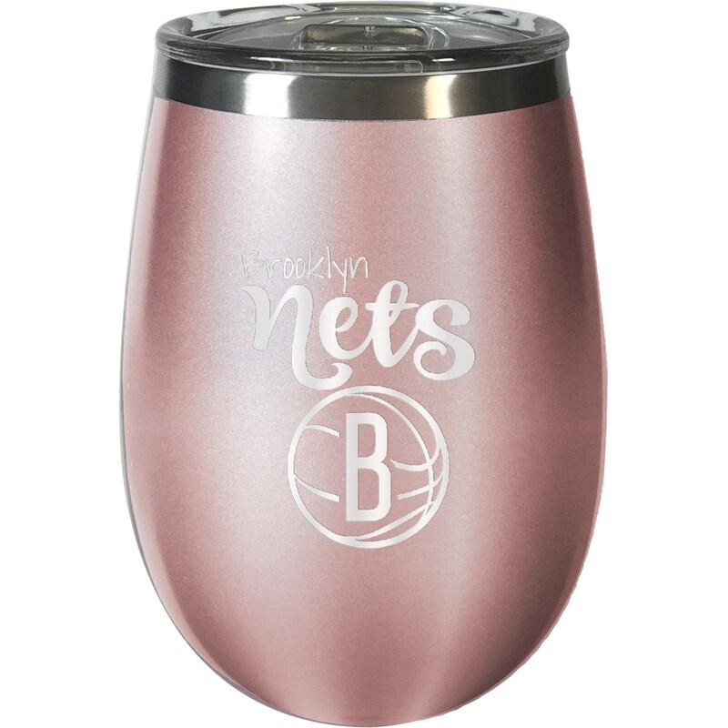 Brooklyn Nets 12oz. Rose Gold Wine Tumbler
