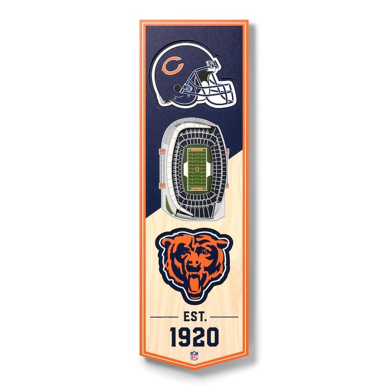 Chicago Bears 6'' x 19'' 3D StadiumView Banner