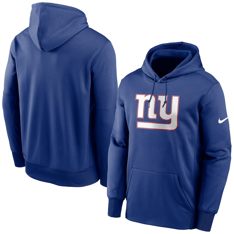 New York Giants Nike Fan Gear Primary Logo Performance Pullover Hoodie - Royal