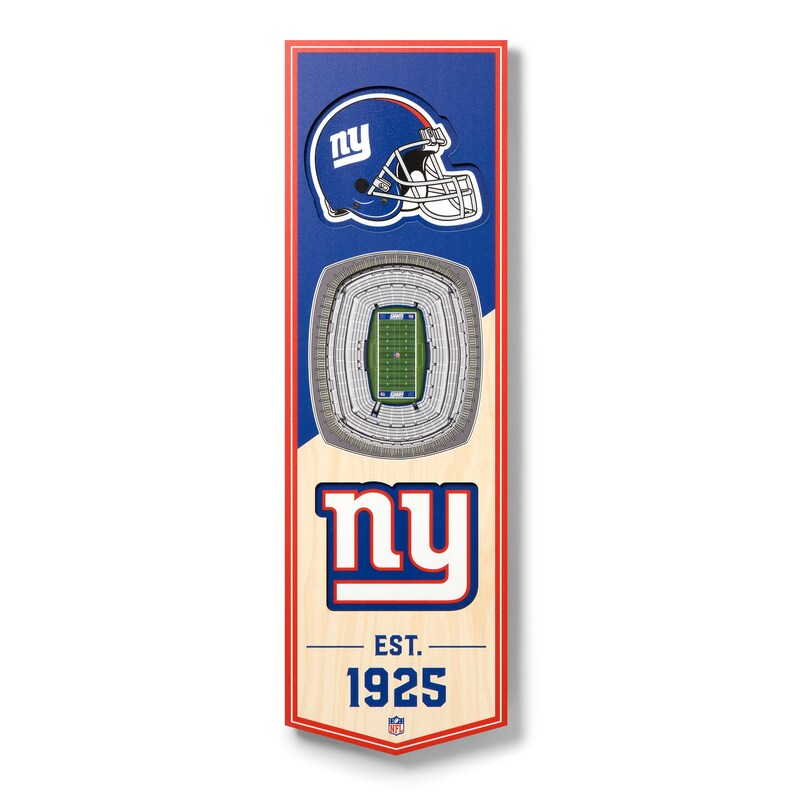 New York Giants 6'' x 19'' 3D StadiumView Banner