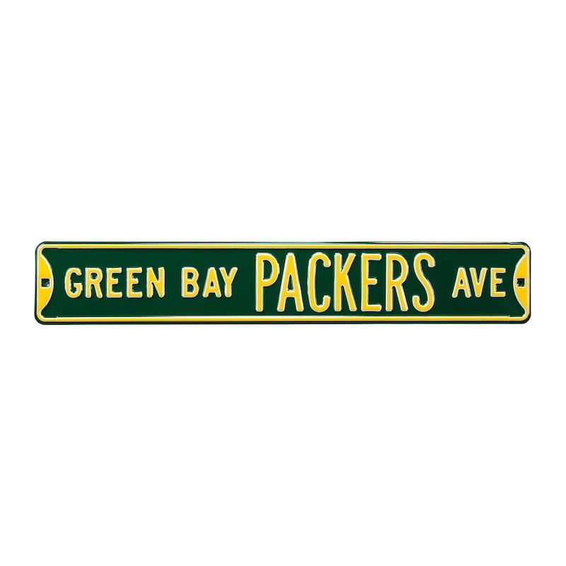 "Green Bay Packers 6"" x 36"" Steel Street Sign - Green"