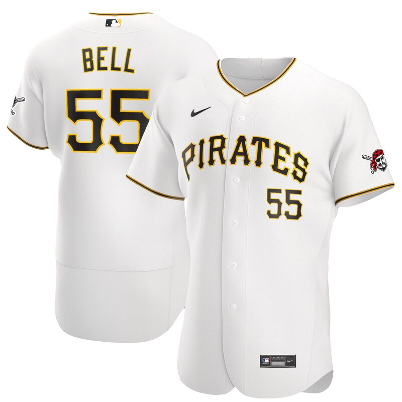 Josh Bell Pittsburgh Pirates Nike Home 2020 Authentic Player Jersey - White