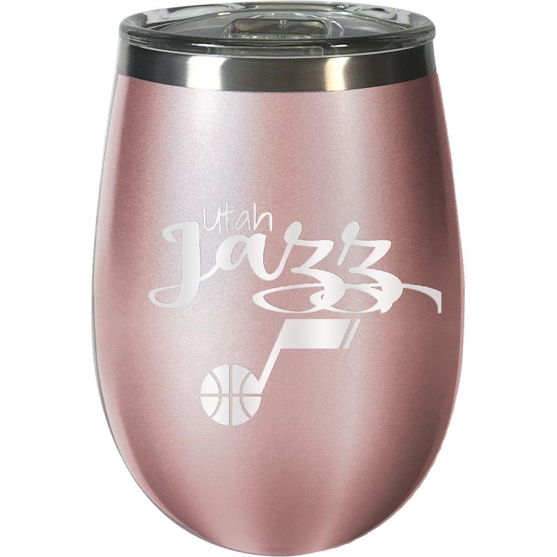 Utah Jazz 12oz. Rose Gold Wine Tumbler