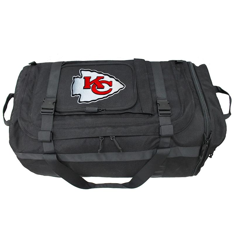 Kansas City Chiefs Military Duffel Bag - Black