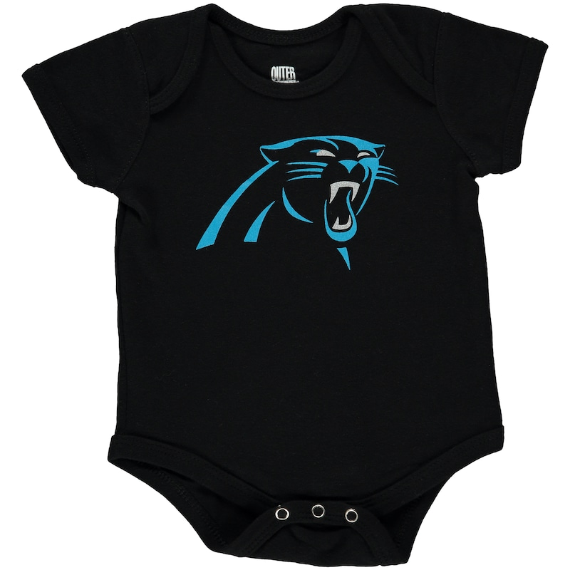 Carolina Panthers Newborn & Infant Team Logo Bodysuit - Black