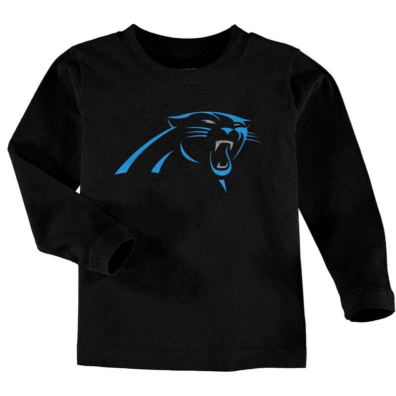 Carolina Panthers Toddler Team Logo Long Sleeve T-Shirt - Black