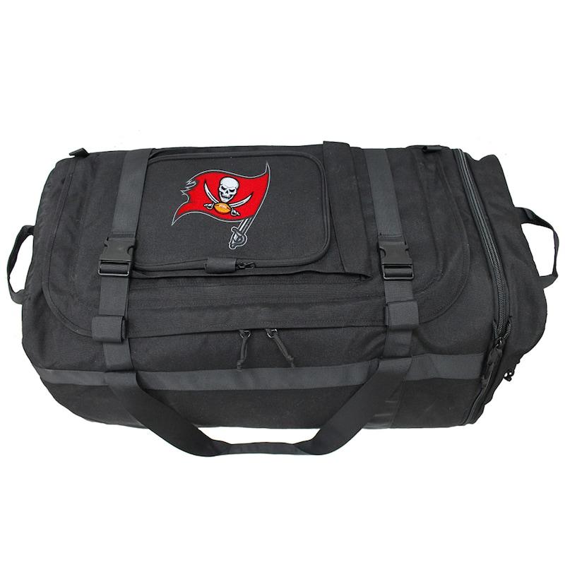 Tampa Bay Buccaneers Military Duffel Bag - Black