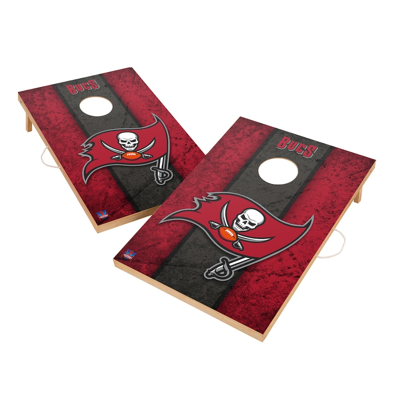Tampa Bay Buccaneers 2' x 3' Vintage Cornhole Board Tailgate Toss Set