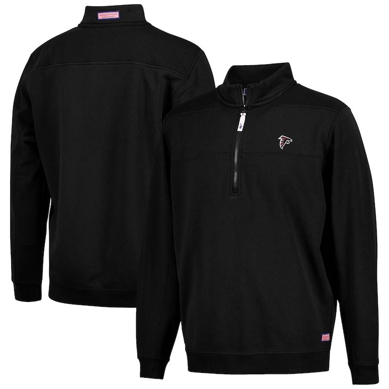 Atlanta Falcons Vineyard Vines Collegiate Shep Shirt Quarter-Zip Pullover Jacket - Black