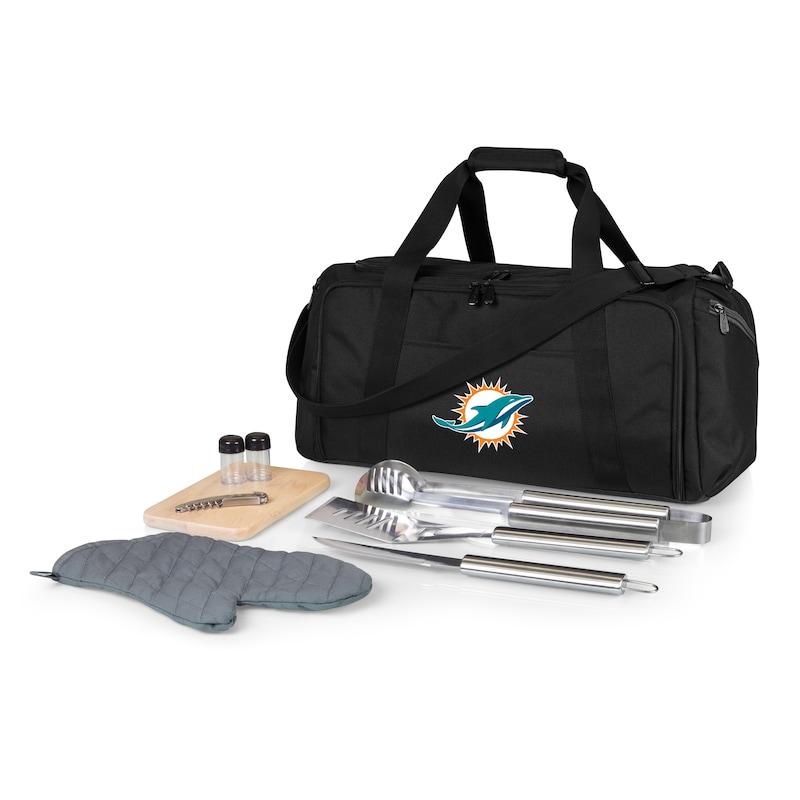 Miami Dolphins BBQ Kit Cooler - Black