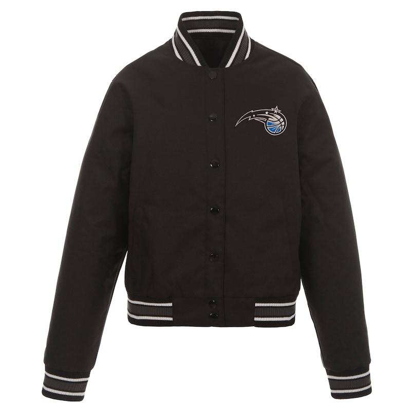 Orlando Magic JH Design Women's Poly-Twill Full-Snap Jacket - Black