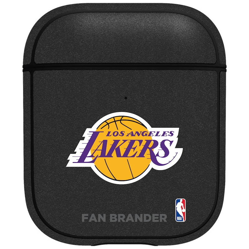 Los Angeles Lakers Air Pods Metallic Case - Black