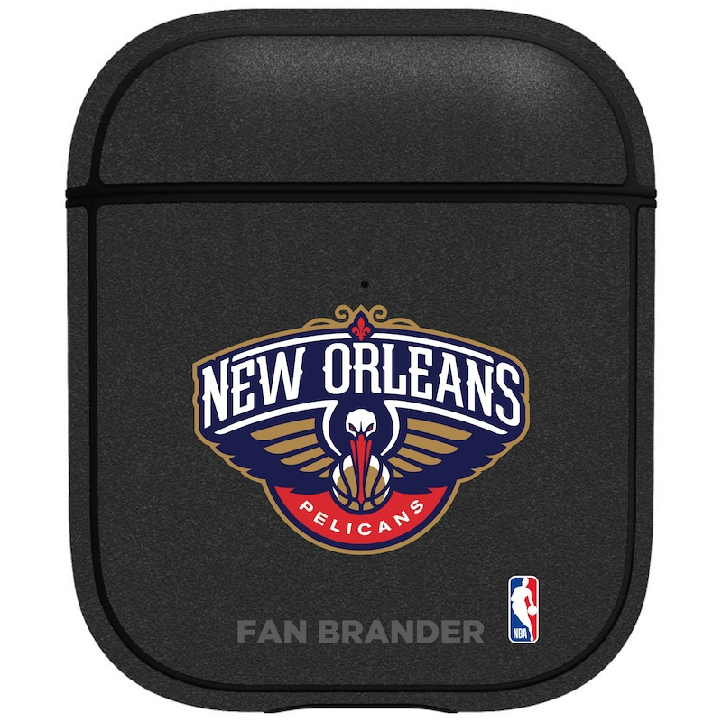 New Orleans Pelicans Air Pods Metallic Case - Black