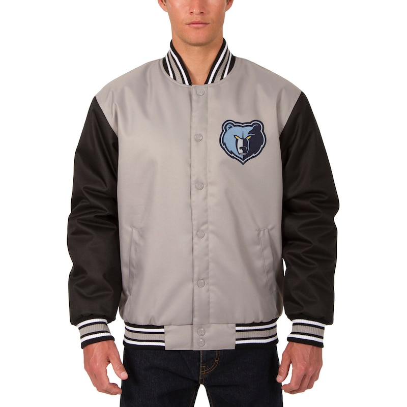 Memphis Grizzlies JH Design Poly Twill Logo Jacket - Gray