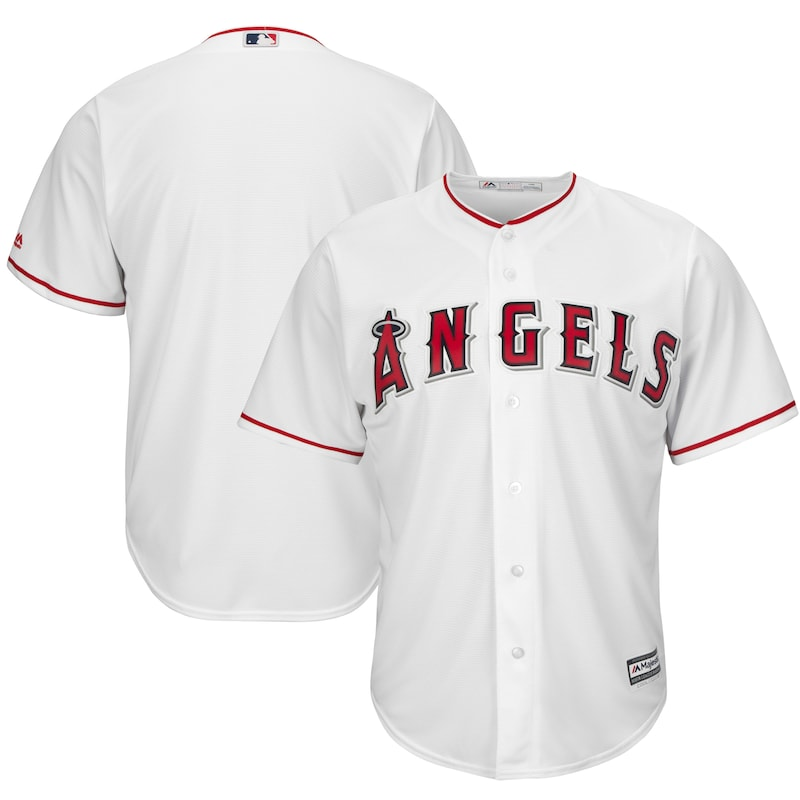 Los Angeles Angels Majestic Official Cool Base Jersey - White