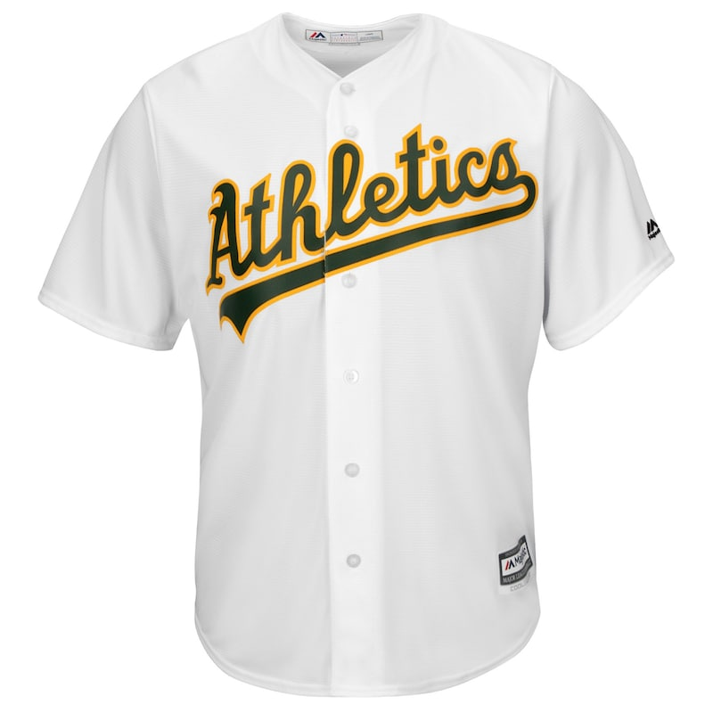 Oakland Athletics Majestic Official Cool Base Jersey - White
