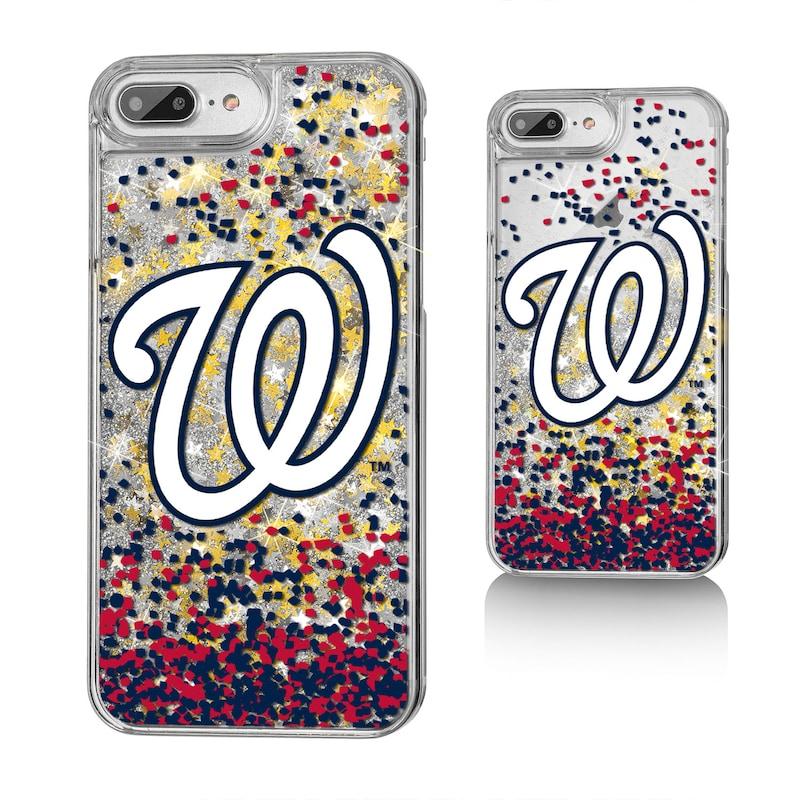 Washington Nationals iPhone 6 Plus/6s Plus/7 Plus/8 Plus Sparkle Gold Glitter Case
