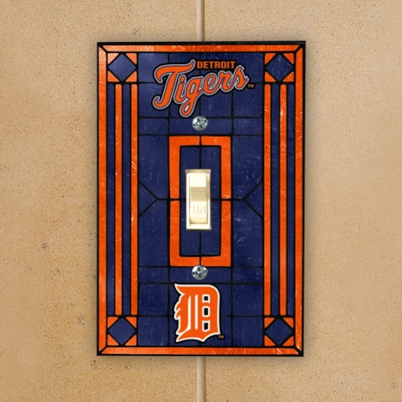 Detroit Tigers Art Glass Switch Plate Cover