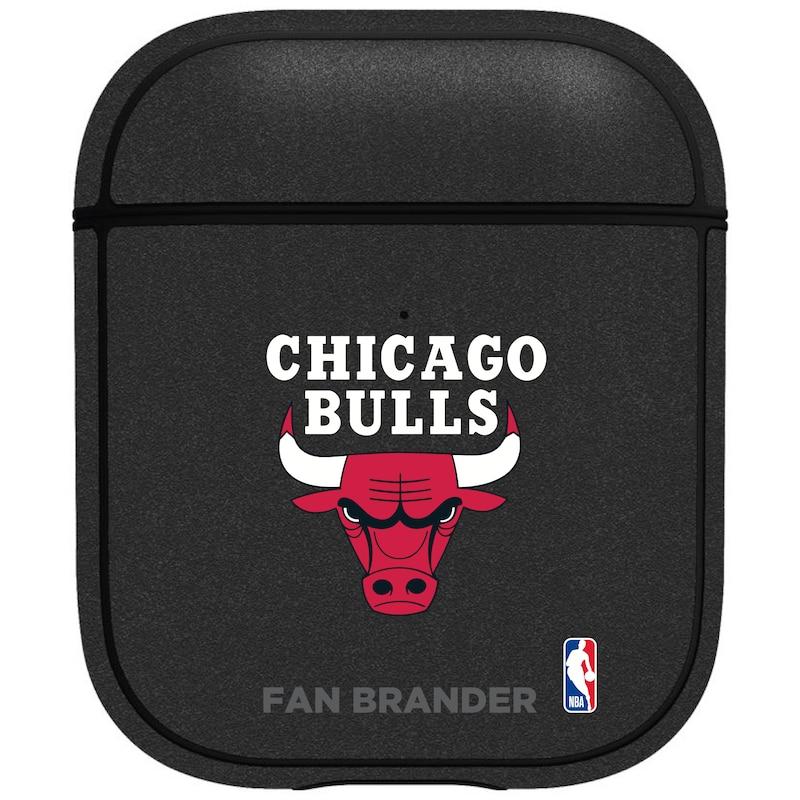 Chicago Bulls Air Pods Metallic Case - Black