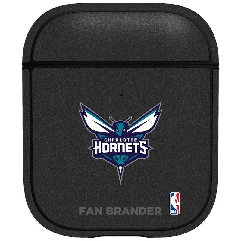 Charlotte Hornets Air Pods Metallic Case - Black