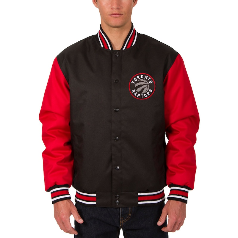 Toronto Raptors JH Design Poly Twill Logo Jacket - Black