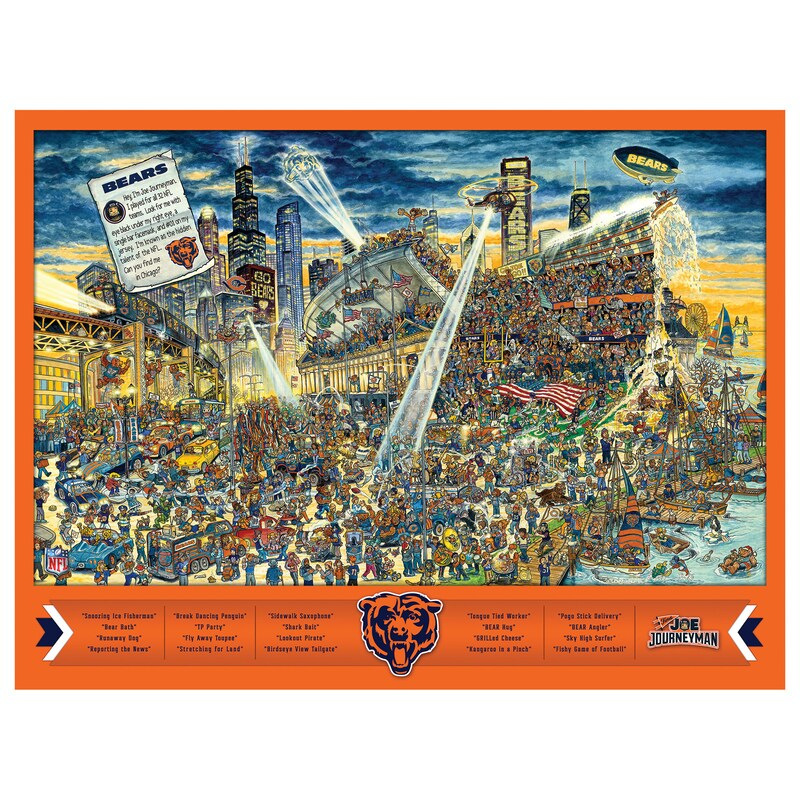 Chicago Bears 500-Piece Joe Journeyman Puzzle