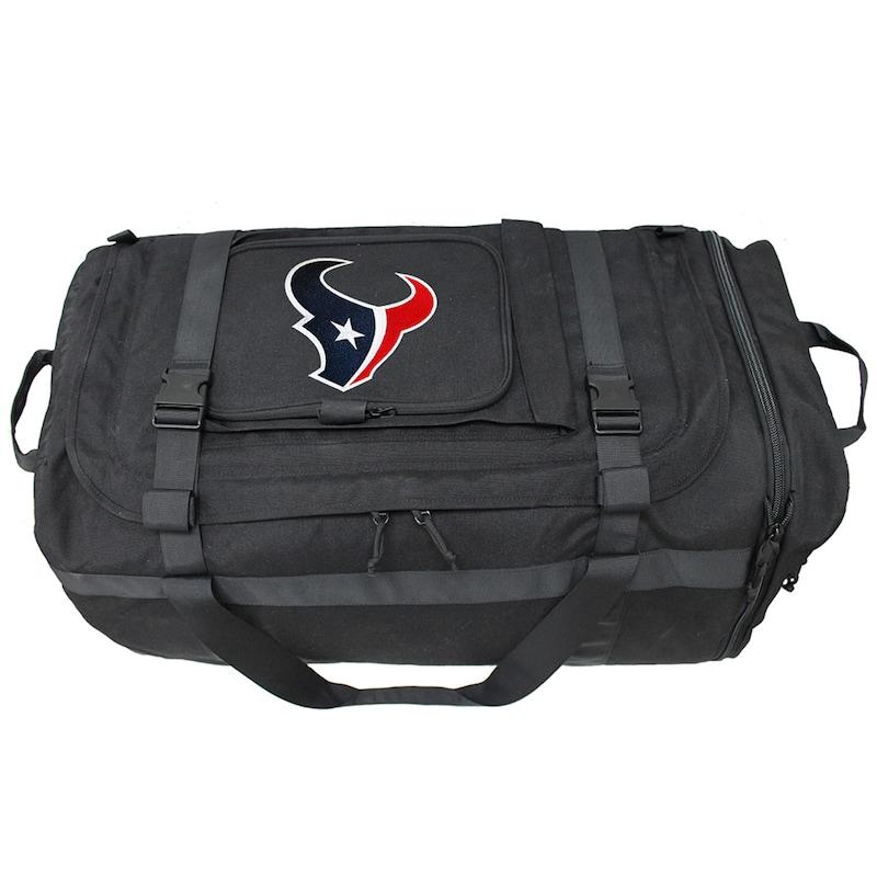 Houston Texans Military Duffel Bag - Black