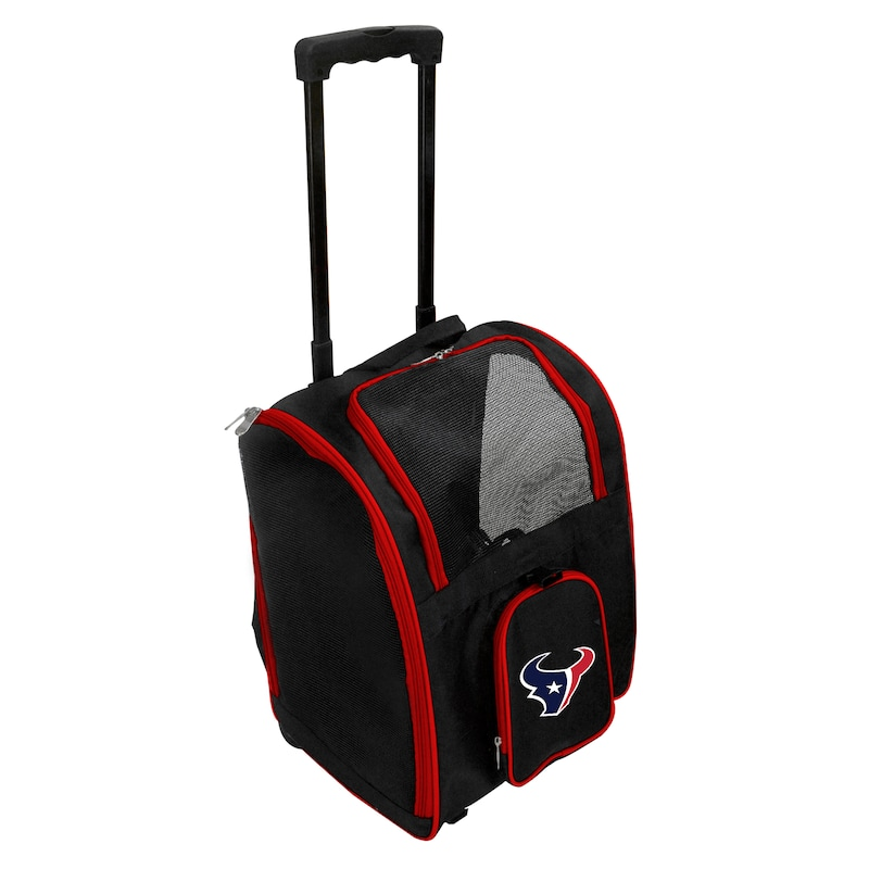 Houston Texans 2-Wheeled Roller Pet Carrier - Black