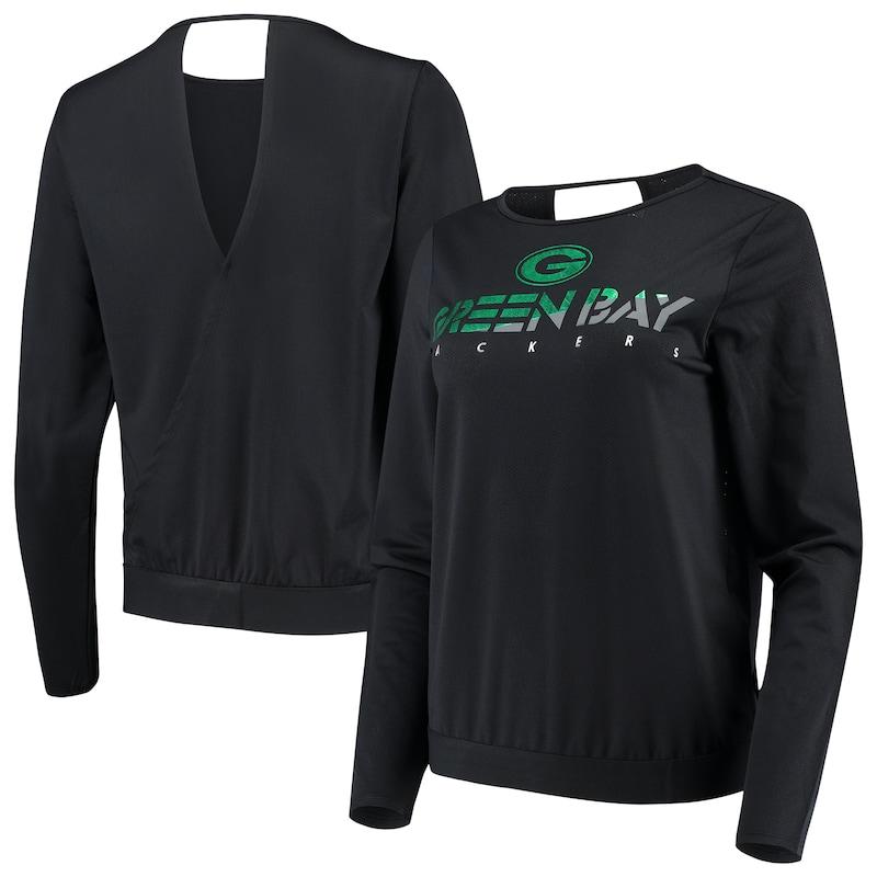 Green Bay Packers Touch by Alyssa Milano Women's Breeze Back Long Sleeve T-Shirt - Black