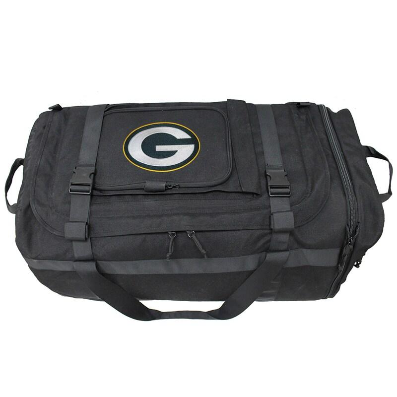 Green Bay Packers Military Duffel Bag - Black