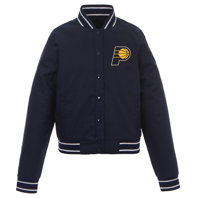 Indiana Pacers JH Design Women's Poly-Twill Full-Snap Jacket - Navy
