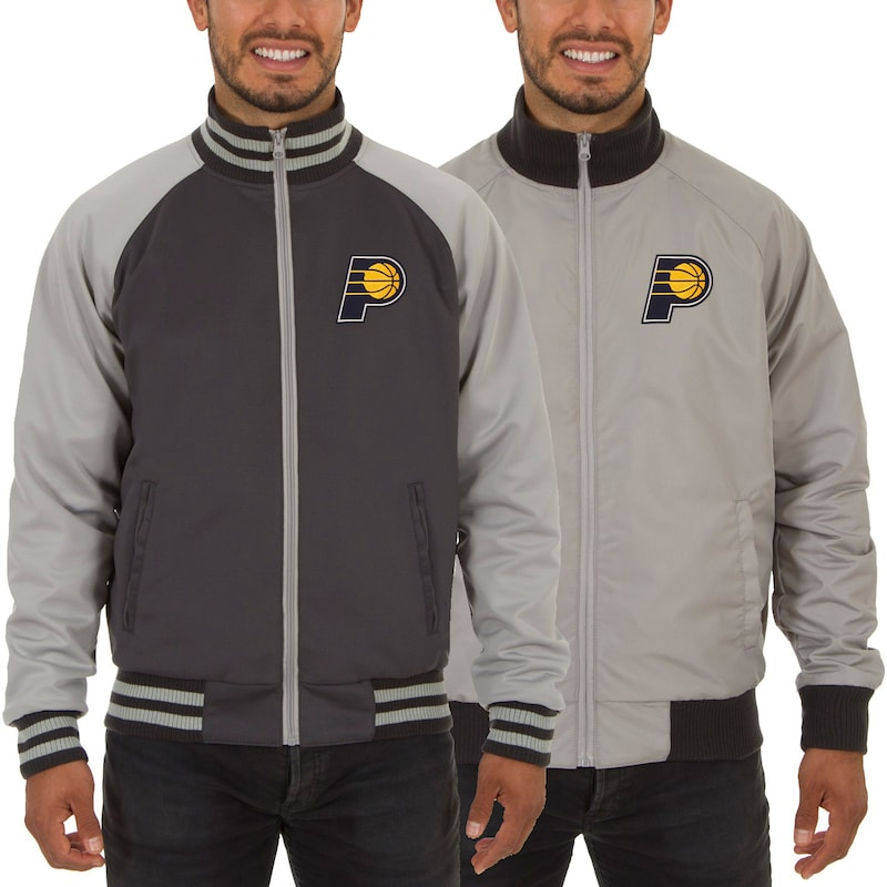 Indiana Pacers JH Design Reversible Track Jacket - Gray