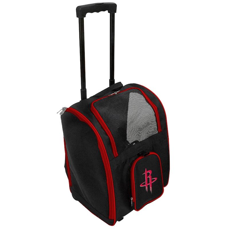 Houston Rockets 2-Wheeled Roller Pet Carrier - Black