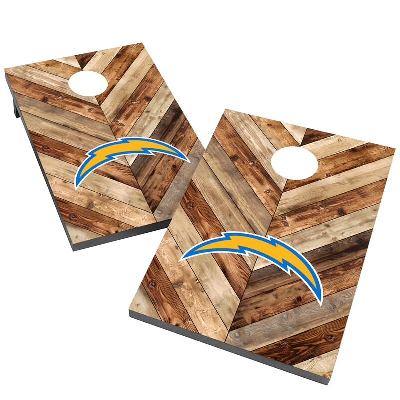 Los Angeles Chargers 2' x 3' Cornhole Board Tailgate Toss Game