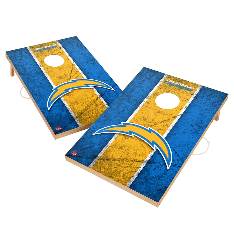 Los Angeles Chargers 2' x 3' Vintage Cornhole Board Tailgate Toss Set
