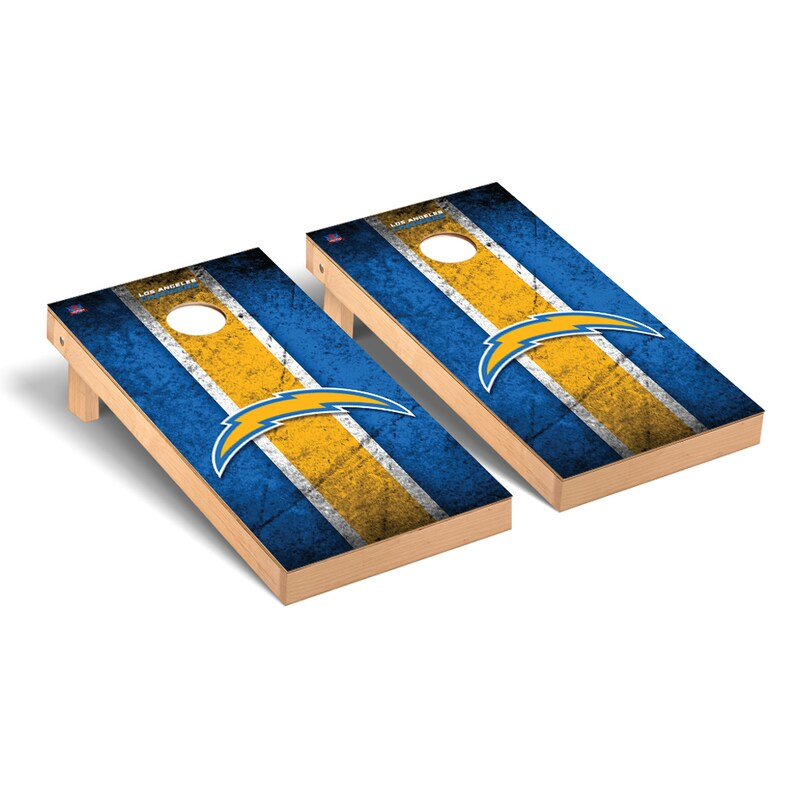 Los Angeles Chargers 2' x 4' Vintage Regulation Cornhole Board Tailgate Toss Set
