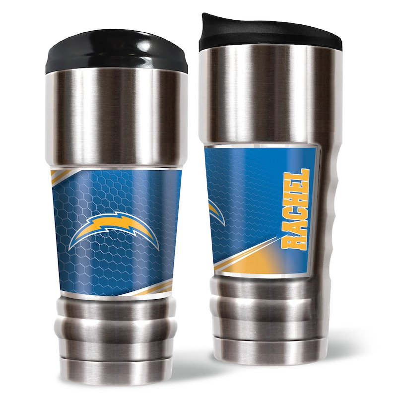 Los Angeles Chargers 18oz. Personalized MVP Tumbler