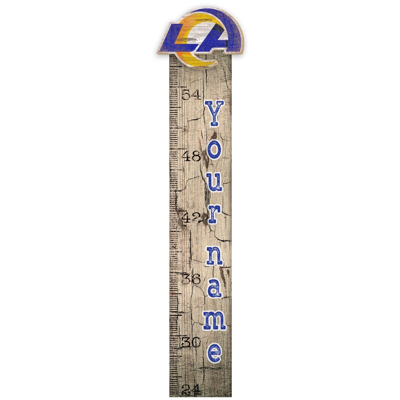"""Los Angeles Rams 6"""" x 36"""" Personalized Growth Chart Sign"""
