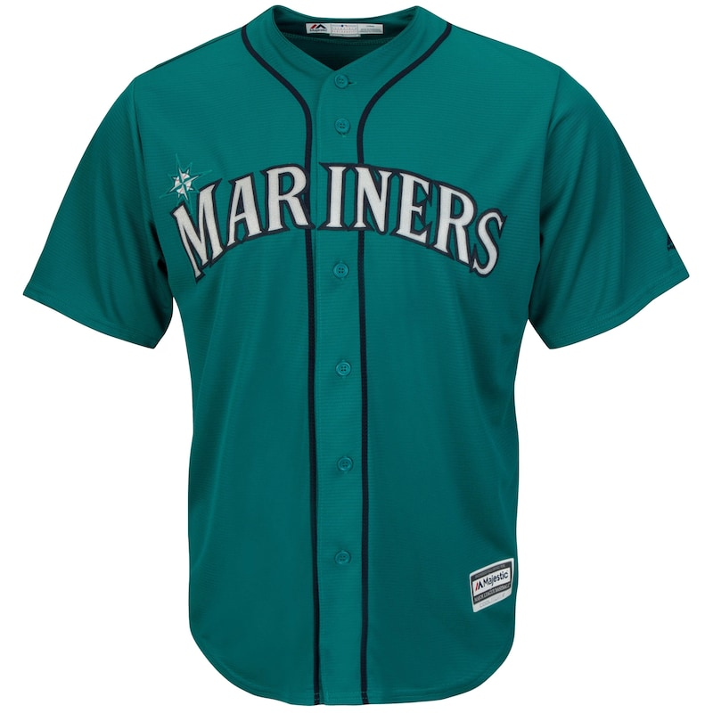 Seattle Mariners Majestic Youth Official Cool Base Jersey - Northwest Green