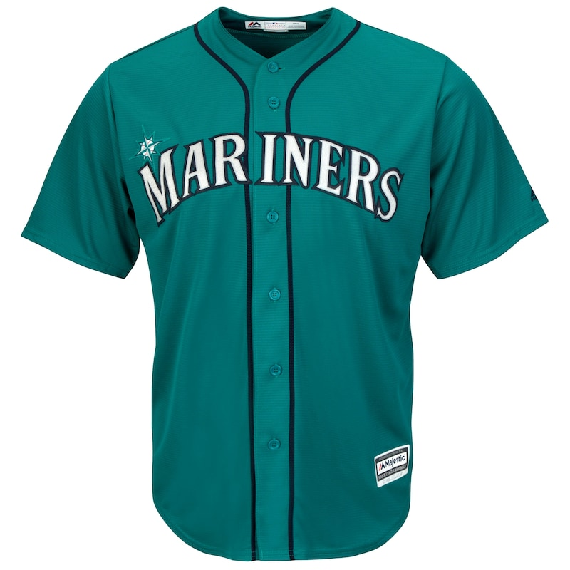 Seattle Mariners Majestic Cool Base Jersey - Northwest Green