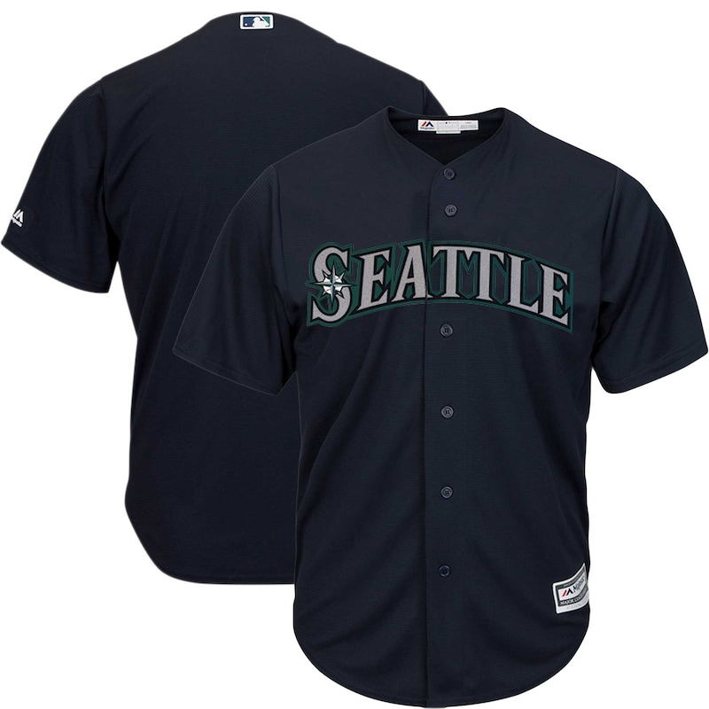 Seattle Mariners Majestic Official Cool Base Jersey - Navy
