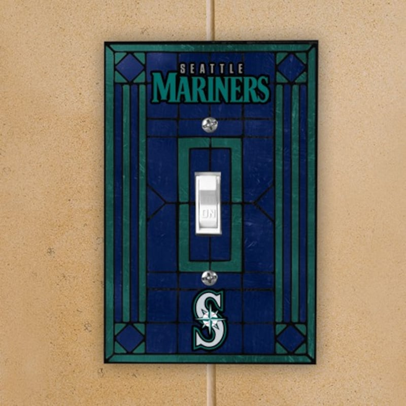 Seattle Mariners Art Glass Switch Plate Cover