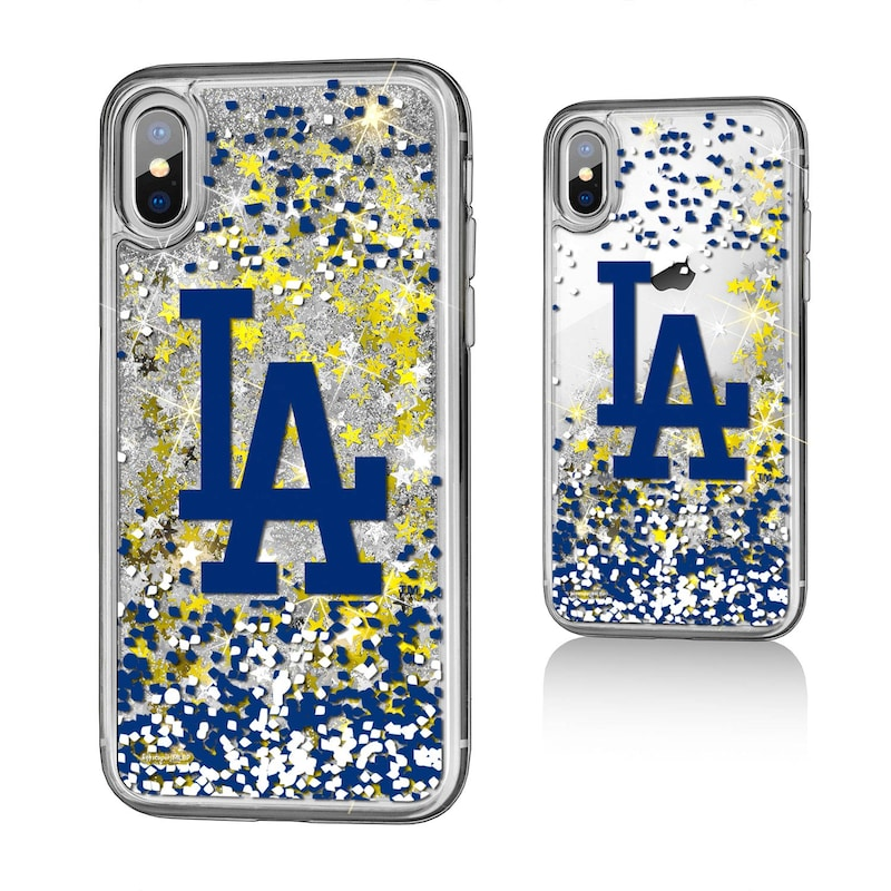 Los Angeles Dodgers iPhone X/Xs Sparkle Glitter Case