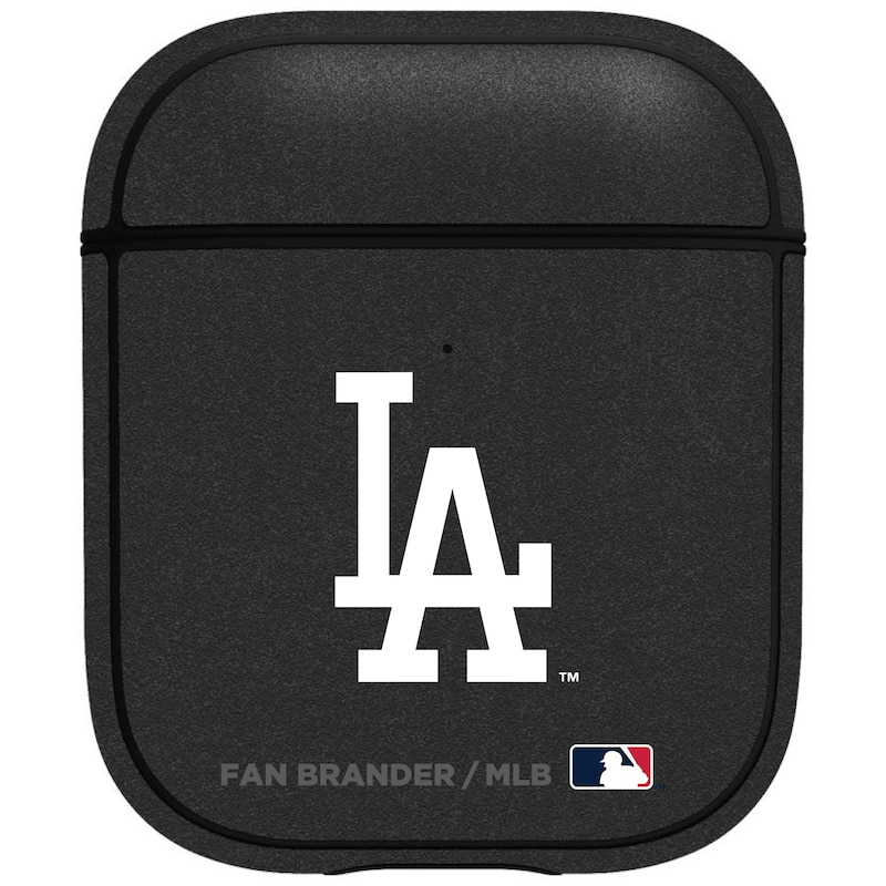 Los Angeles Dodgers Air Pods Metallic Case - Black