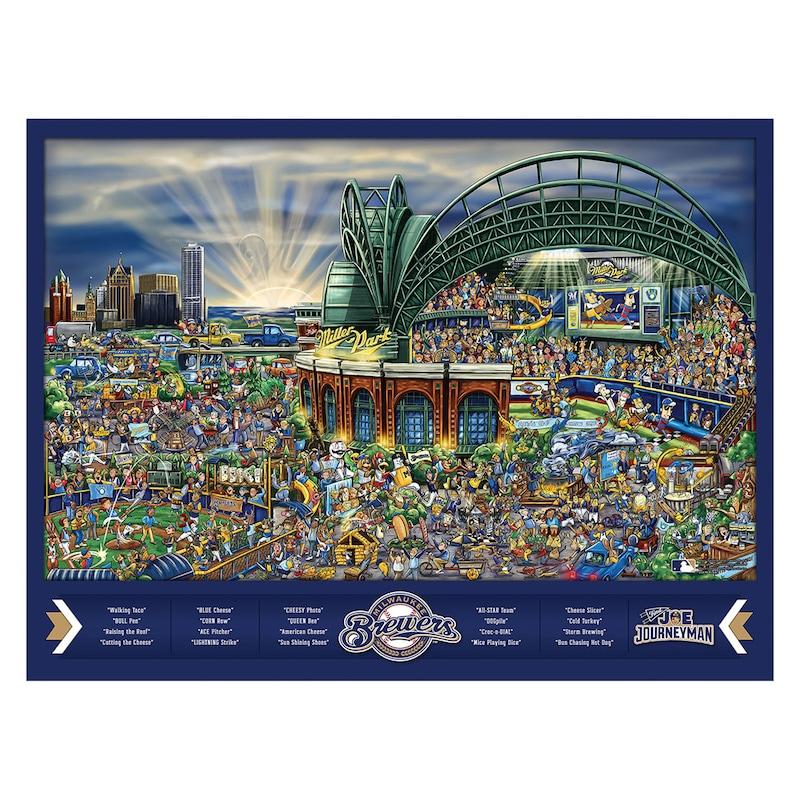 Milwaukee Brewers 500-Piece Joe Journeyman Puzzle