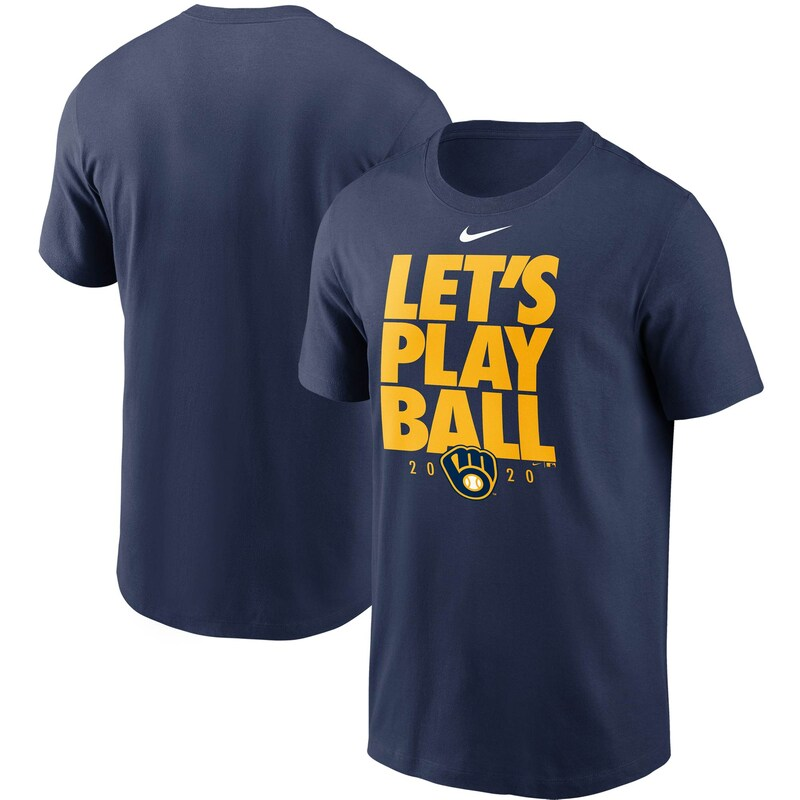 Milwaukee Brewers Nike Let's Play Ball T-Shirt - Navy